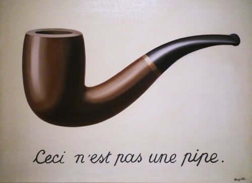 Den semiotiske funksjonen blir representert av dette maleriet av Magritte.