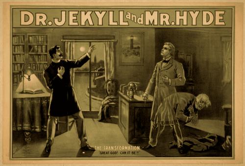 Kampanjeplakat for Strange Case of Dr. Jekyll og Mr. Hyde. En film om den gode og onde dualiteten.