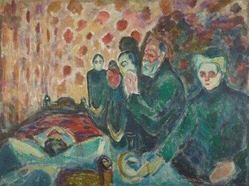 Munchs Dødskamp-maleri.