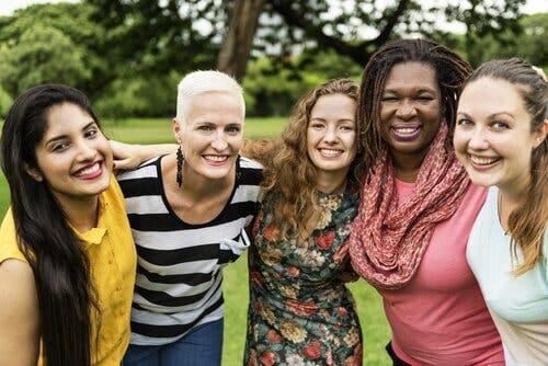 En gruppe kvinner