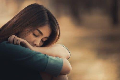 En trist kvinne.