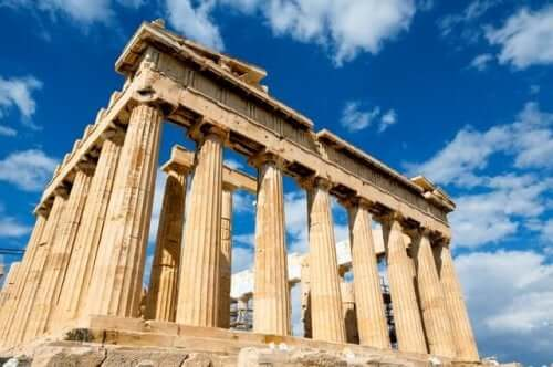 Parthenon i Hellas.