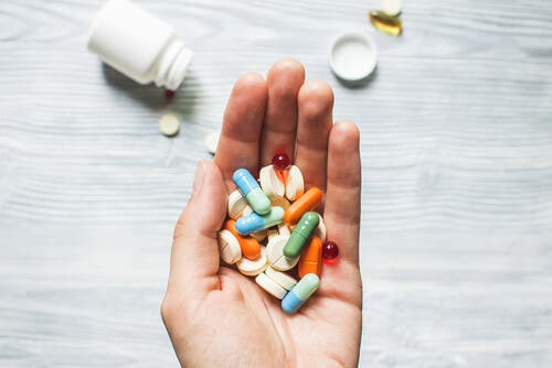 En håndfull psykotropiske medikamenter.