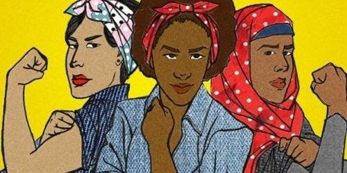 En representasjon av ulike typer feminister.