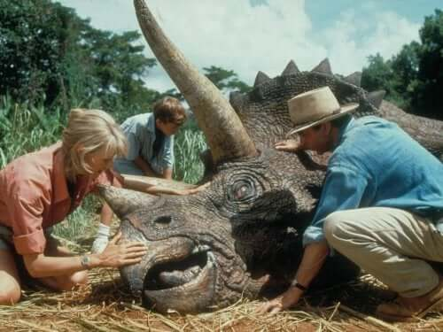 En død dinosaur.