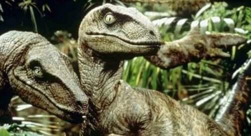 Scene fra Jurassic Park.
