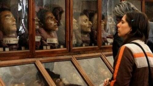 Utstilling av hoder.
