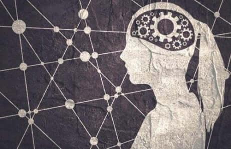 En person med en maskin inne i hjernen.