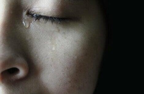 Person som gråter.