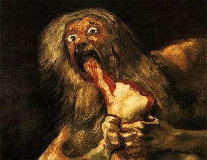 Et av de mest berømte verkene fra Goyas Svarte malerier.