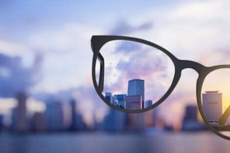Utsikten gjennom briller.