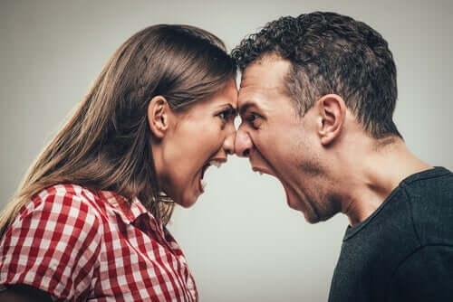 Par som skriker til hverandre.