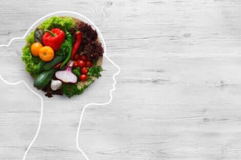 Et sinn laget av mat som representerer psykoernæring.