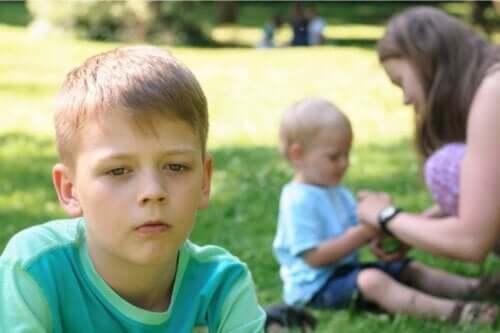 Et opprørt barn.