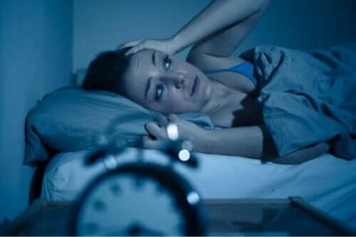 En kvinne som ikke får sove.