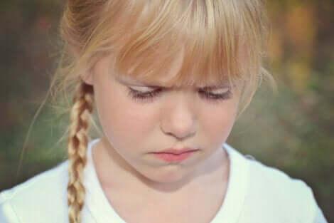 En jente som er sint