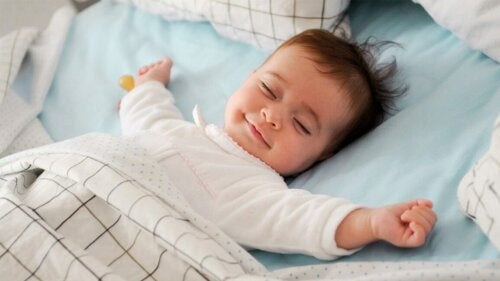 Baby som sover.