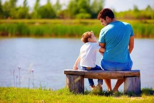 Far og sønn.