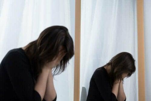 En ulykkelig kvinne.