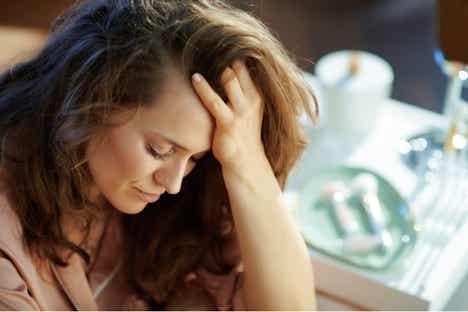 En stresset kvinne