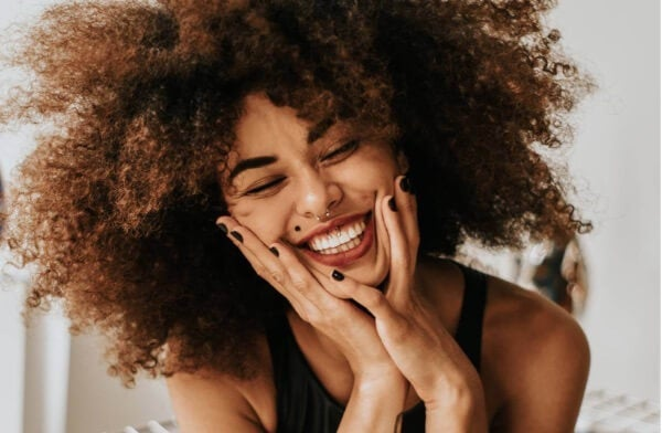 En lykkelig kvinne