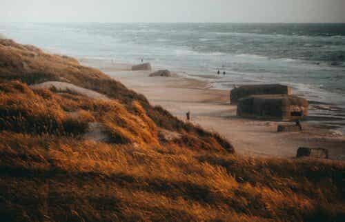 Bunker på stranden.