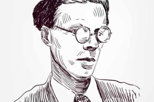 Strektegning av Huxley.