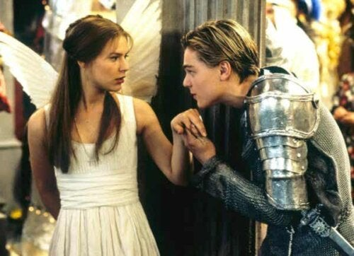 En scene fra Romeo og Julie.