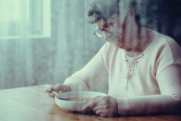 Hvorfor har demenssyke problemer med å svelge mat?